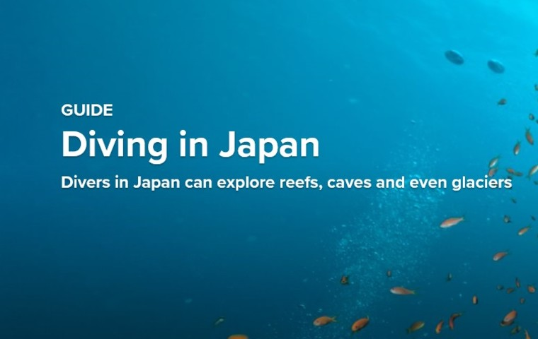 Diving in Japan : Divers in Japan can explore reefs, caves and even glaciers