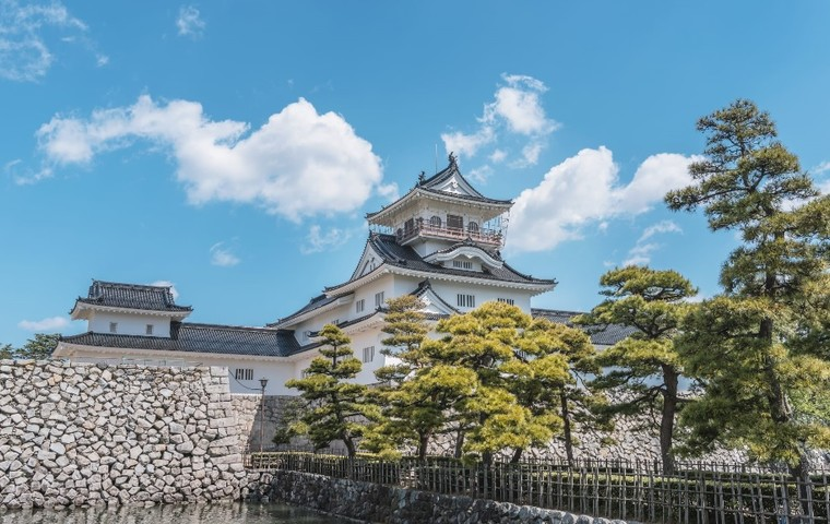 Stately castle grounds in central Toyama