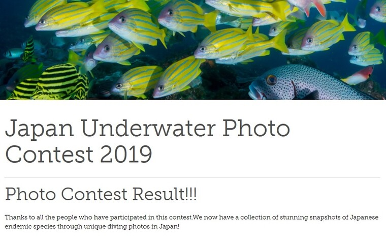 Japan Underwater Photo Contest 2019  Results
