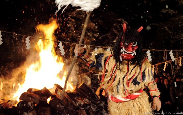 See the Oga no Namahage masked deities, a UNESCO Intangible Cultural Heritage