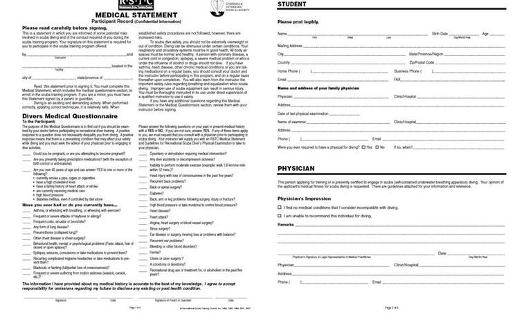 RSTC Medical form
